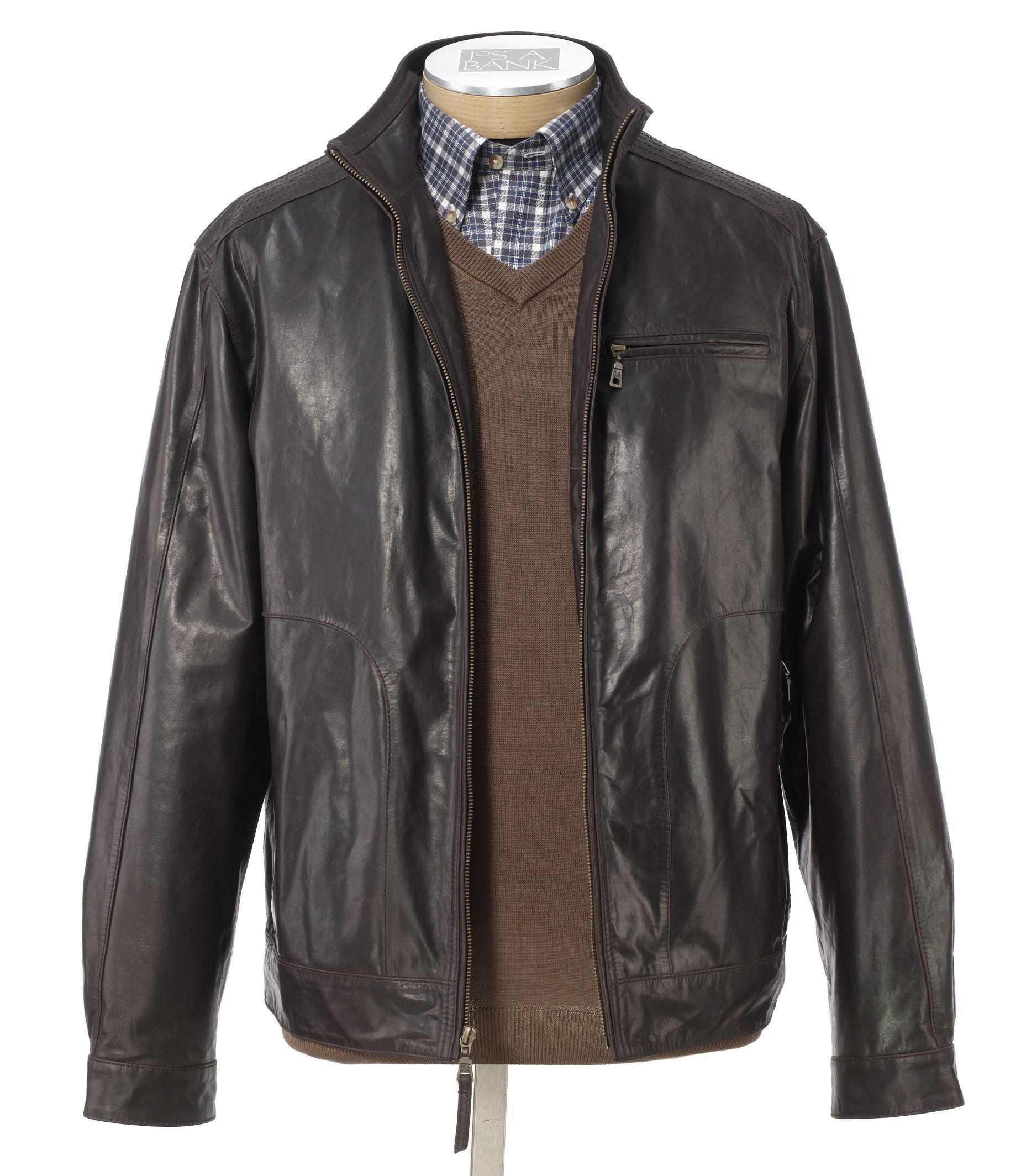 VIP Roadster Leather Jacket Big and Tall Sizes Leather