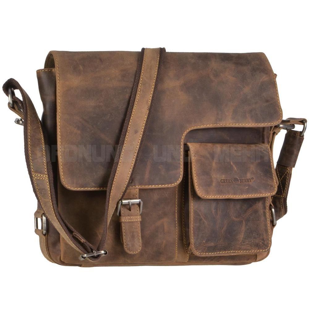 Herren Leder Tasche Handtasche Schultertasche Umhängetasche Laptoptasche