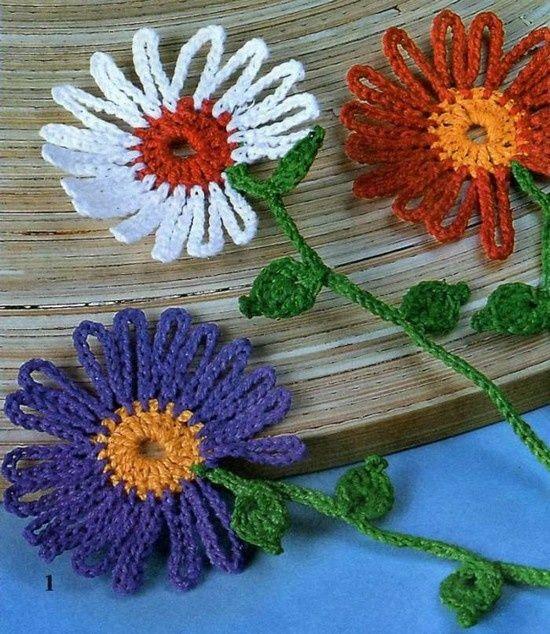 Crochet Flower + Diagrams | Lustiges