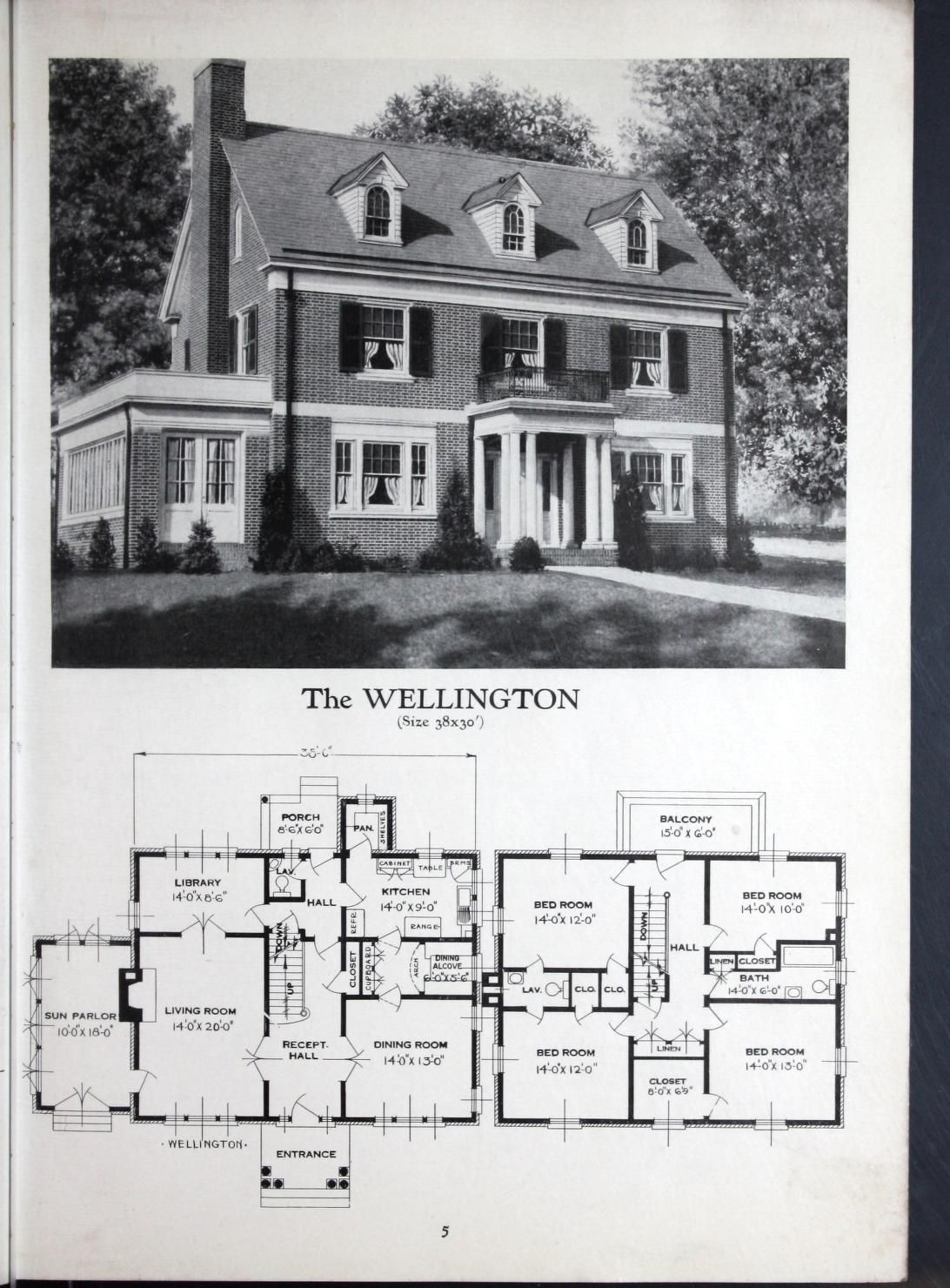 Homes Of Brick And Stucco Standard Homes Company Free Download Borrow And Streaming Internet Colonial House Plans Sims House Plans Vintage House Plans