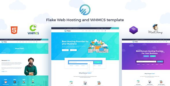 Flake is a Web Hosting and WHMCS Technology Template, designed for