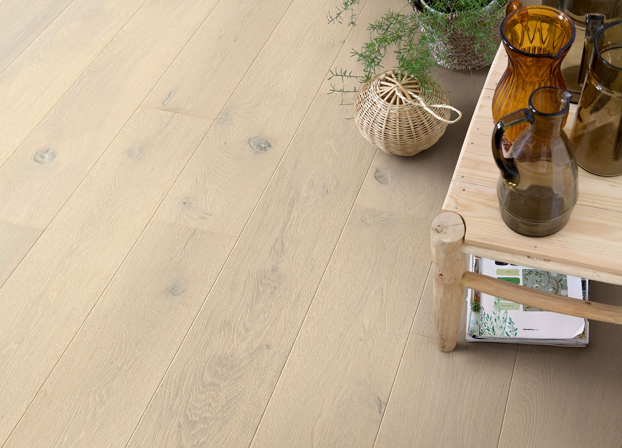 Quick Step Hardwood Flooring   Palazzo U0027Frozen Oak Extra Mattu0027 (PAL3562) In  A Trendy Living Room. To Find More Living Room Inspiration, Visit Our  Website: ...