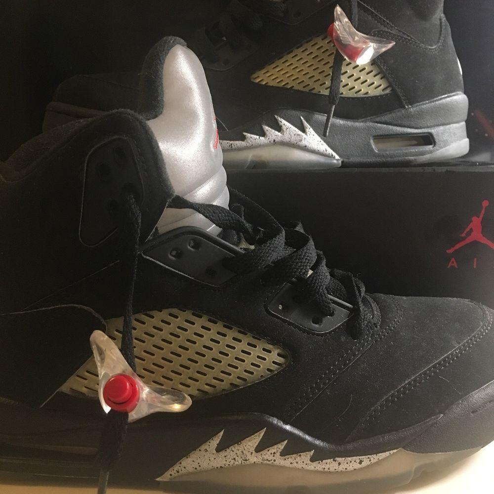 b827f121e467cf Nike air jordan retro V 5 Black   metallic silver OG 2016 size 9.5  fashion   clothing  shoes  accessories  mensshoes  athleticshoes (ebay link)