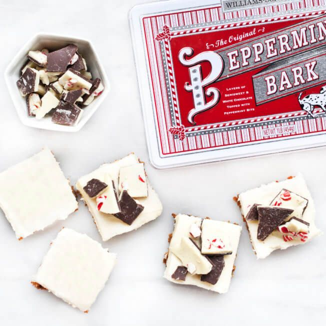 No Bake Peppermint Bark     Gingersnap Bars