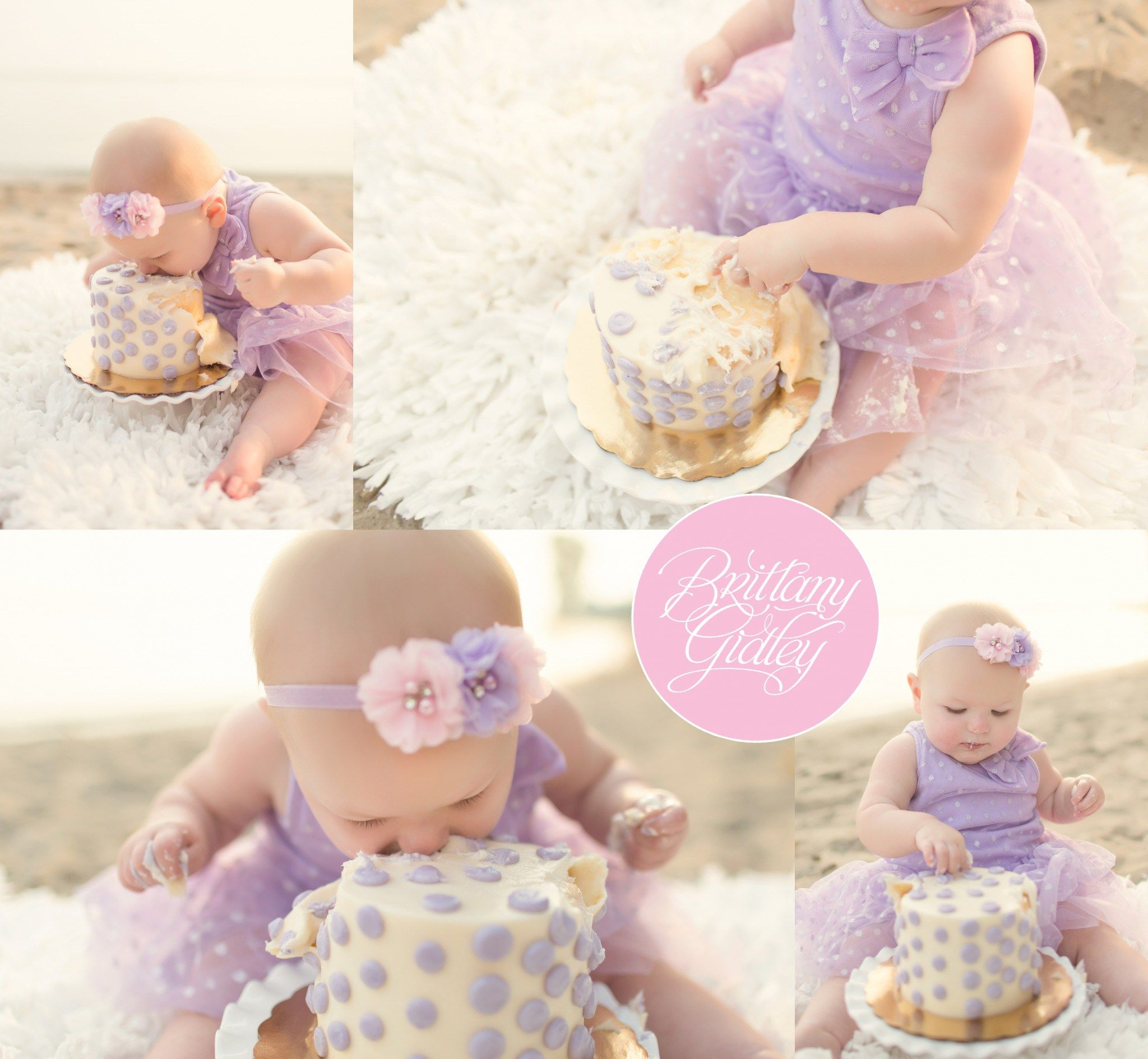 Huntington Beach Smash Cake Girl Outdoor Cake Smash Baby Girl