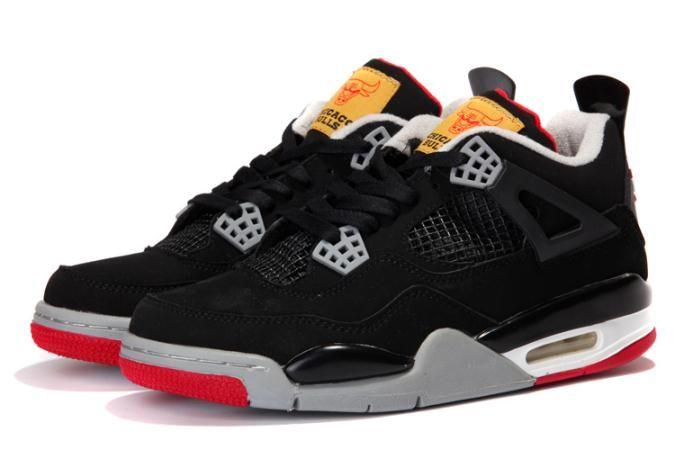b07df2588739e1 Nike Air Jordan 4 Retro Bred Chicago Bulls Custom for Sale - Men Air Jordan  4