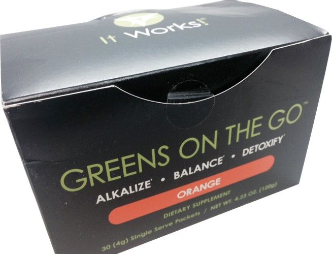 It Works Greens On to Go - Orange Flavor, 30 Count