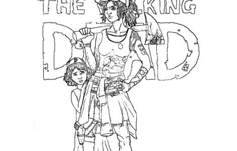 The Walking Dead Coloring Page Printable