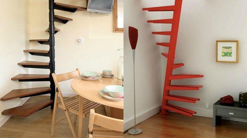 escalier helicoidal gain de place