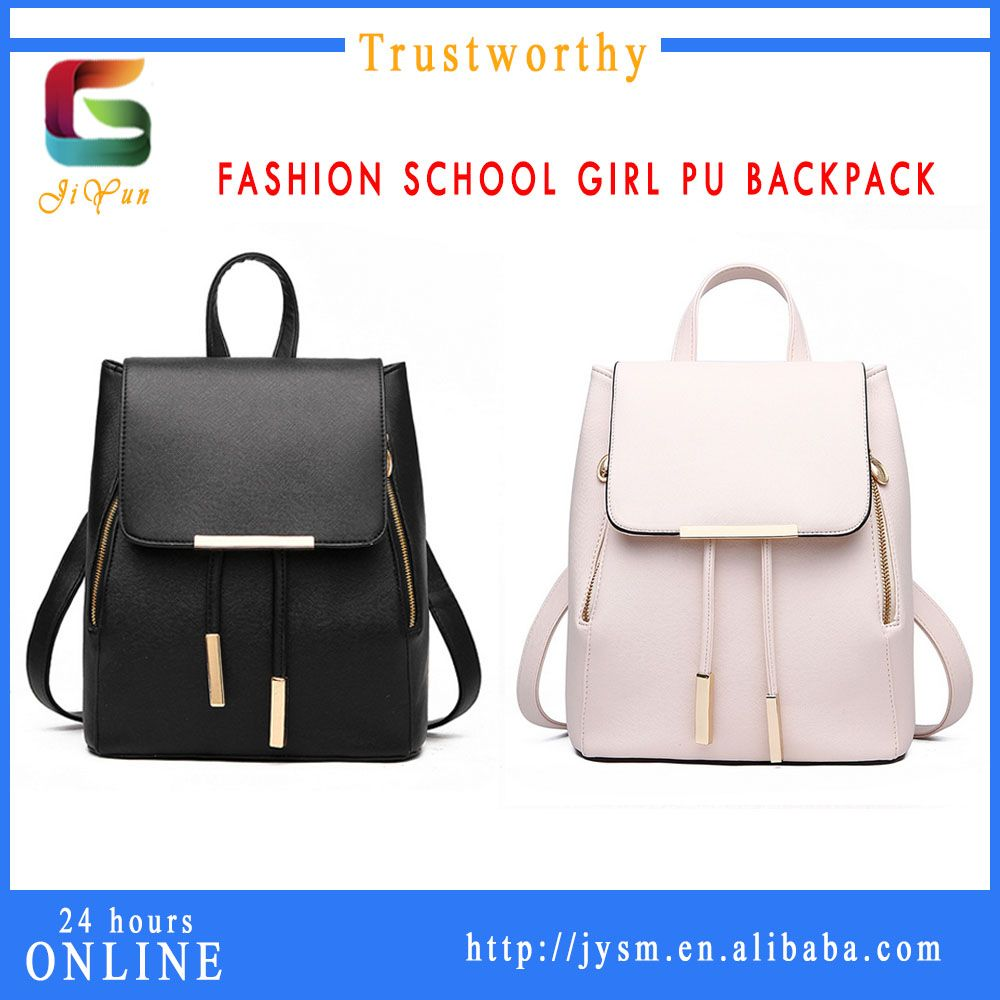 da5e88dc06 2016 Trend Fashion Famous Women Waterproof Backpacks Delicate Shoulder  Top-handle Custom Sturdy Leather Backpack