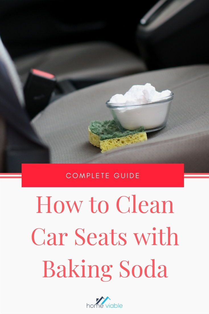 Clean your car seats and inerior with this DIY carpet cleaning hack,: baking soda. This all natural product will remove any and all stains fast. #homeviable #bakingsoda #carcleaning