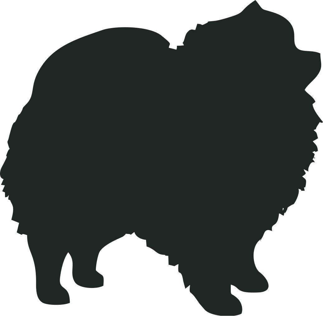 Pomeranian Dog Breed Silhouette Custom Vinyl Decal Sticker