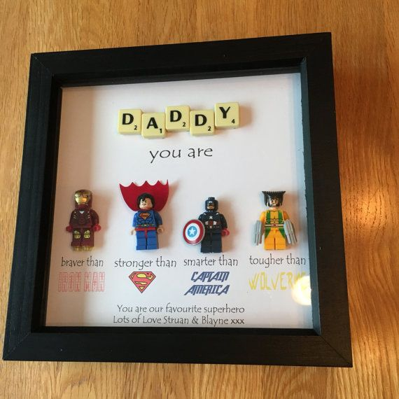 Daddy Superhero Frame Personalised Made To Order Including Gifts For