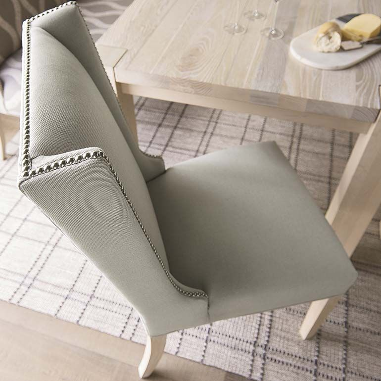 Multiple Fabric And Detail Options Wing Back Side Chair Dining Room Chairs Upholstered Upholstered Dining Table Dining Room Chairs