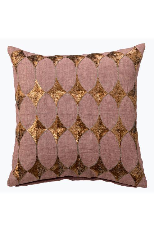 Day Home Pudebetraek Harlequin Cushion Cover Goldene Kissen