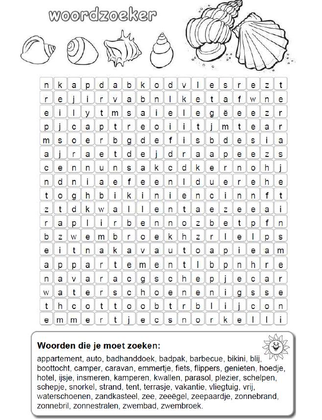 Woordzoeker Yurls Net Woordpuzzels Woordzoeker Schoolweek
