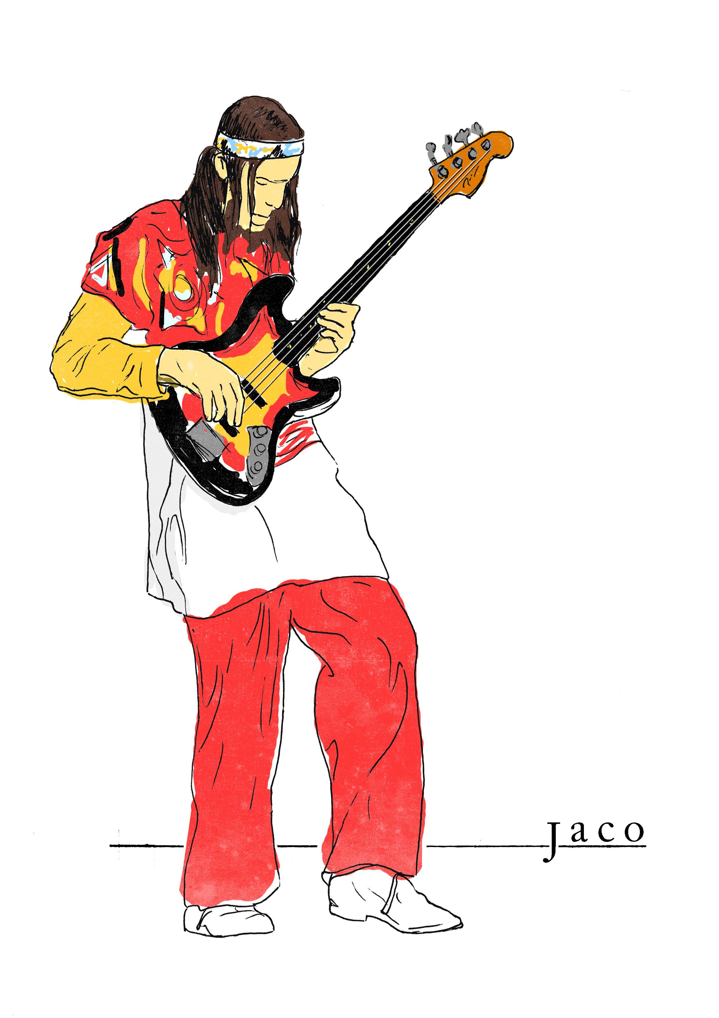 b7c30ec0bc Jaco Pastorius illustration.