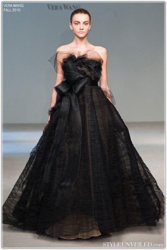 Vera Wang Black Ball Gown Wedding Dresses