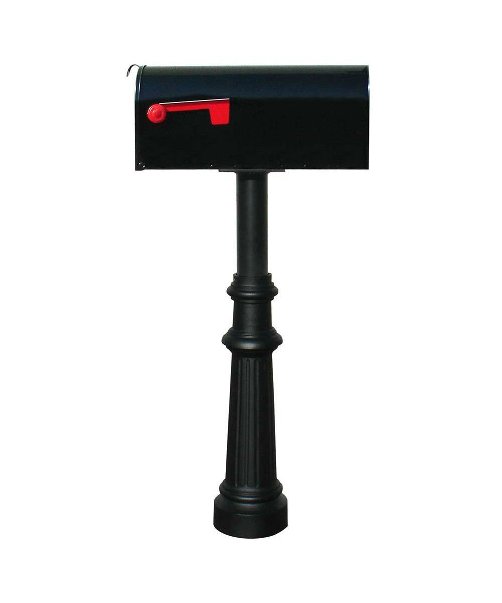 Qualarc Hanford Post Mount Single In Ground Mailbox And Set Decorative Bas Box 249 Free Shipping