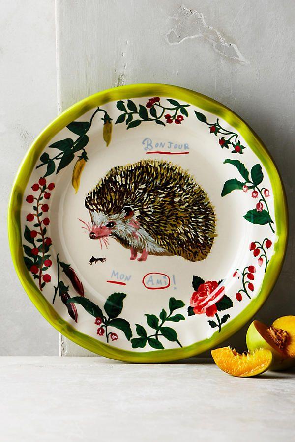 ANTHROPOLOGIE: 'Francophile Dinner Plate - Hedgehog' by Nathalie Lete ($24.00)