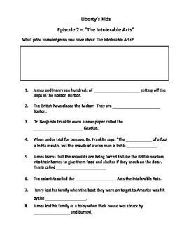 liberty kids worksheets | Liberty's Kids Episode 2 Viewing Guide ...