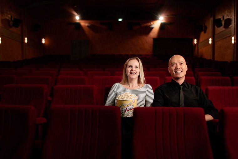 Jessica & Craig's Cinema Engagement