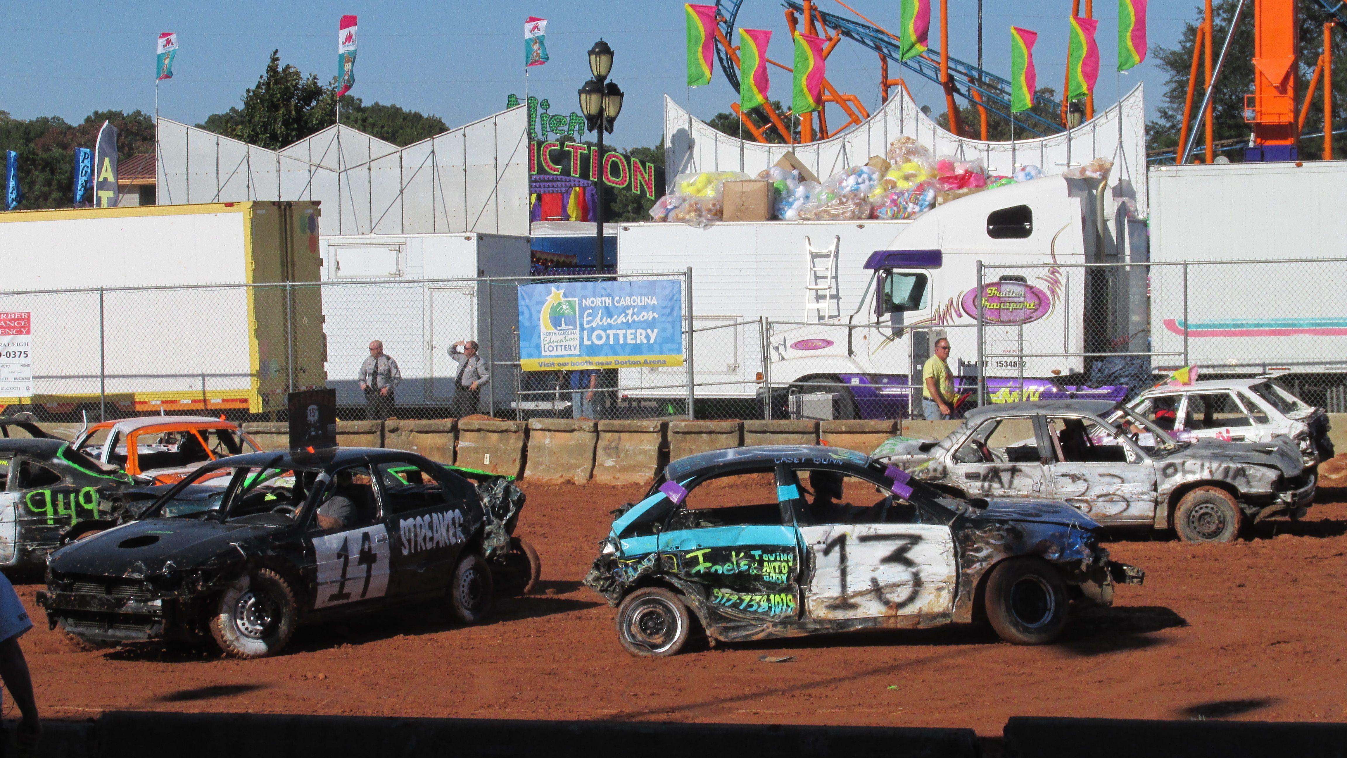 Demolition derby! So much fun to watch! Demolition derby
