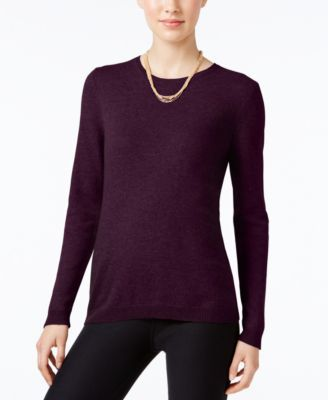 Charter Club Cashmere Crew-Neck Sweater, Only at Macy's, 18 Colors Available | macys.com
