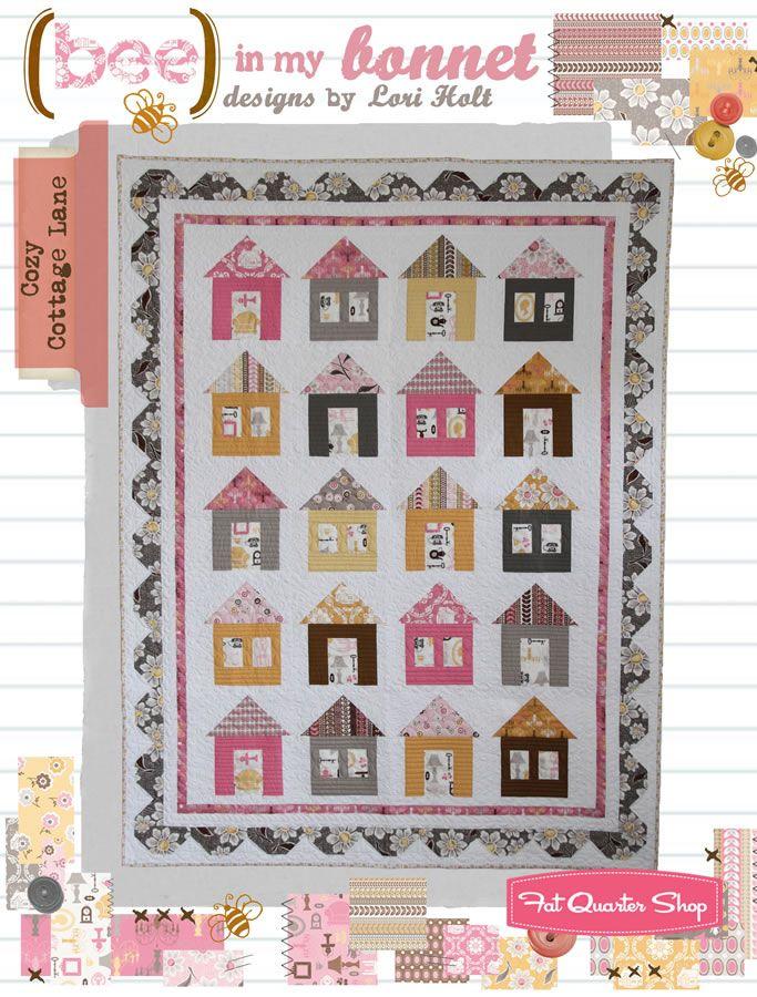 cute little houses daisy cottage fabric cozy cottage lane quilt rh pinterest com cozy cottage fabrics augusta me cozy cottage fabrics and alterations augusta maine