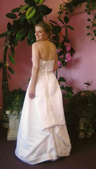 Our Wonderful Client Getting Her Dress Alterations