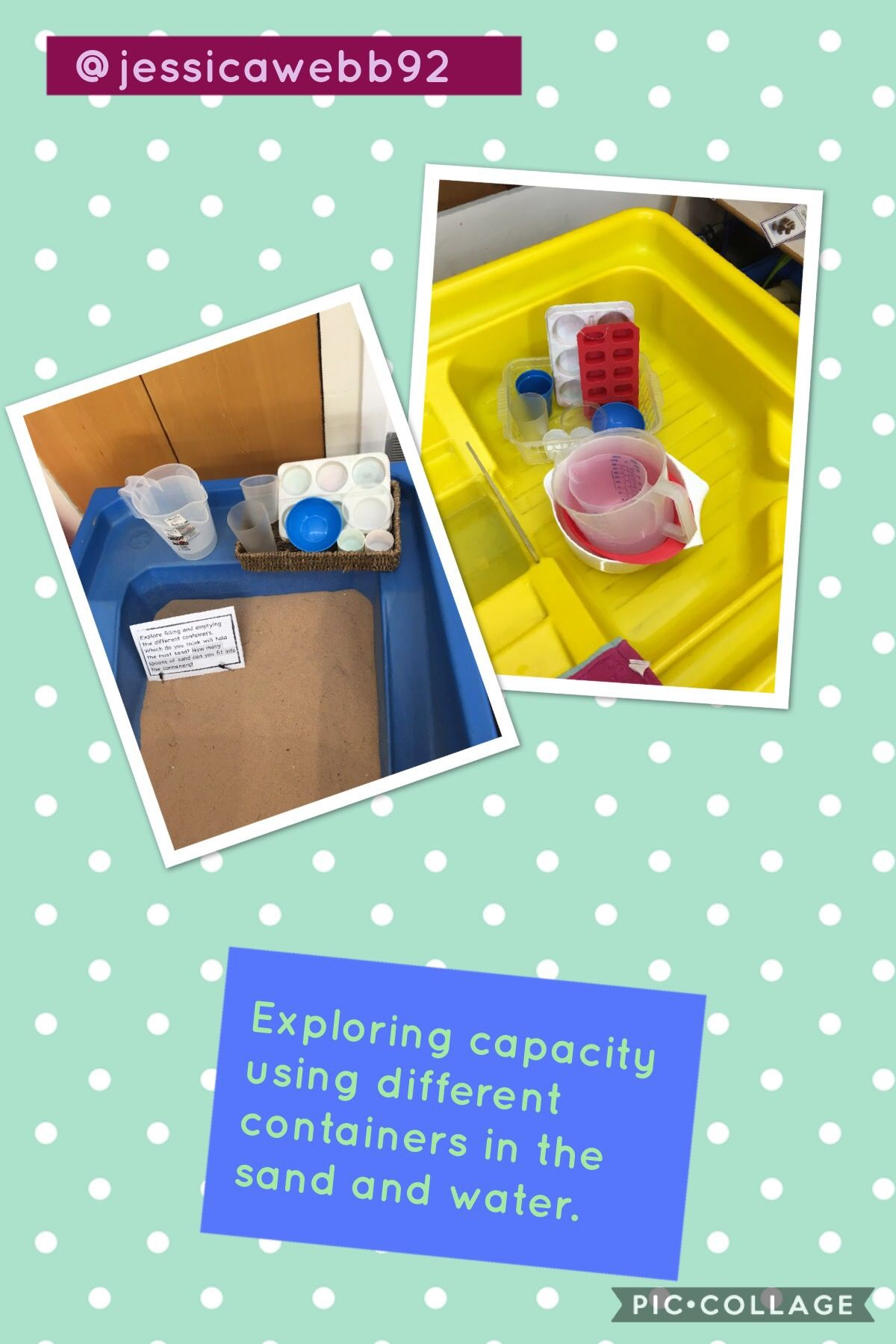 Exploring Capacity Using A Variety Of Different Containers In The Water And Sand