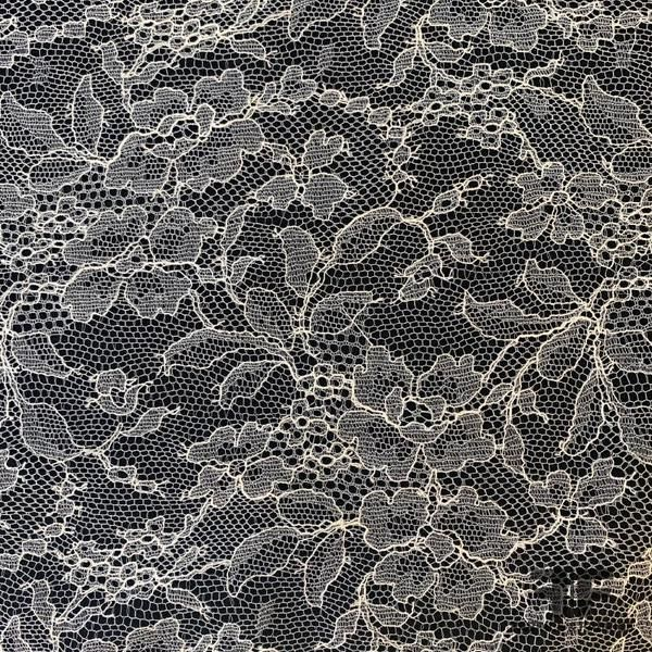 French Chantilly Lace Finely Woven Off White In 2021 Black Lace Fabric Lace Drawing Lace Fashion