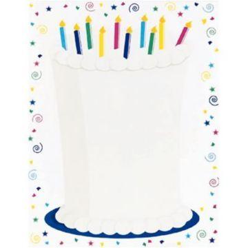 birthday cake stationary fun paper letterhead cake cool stationary letterhead design free