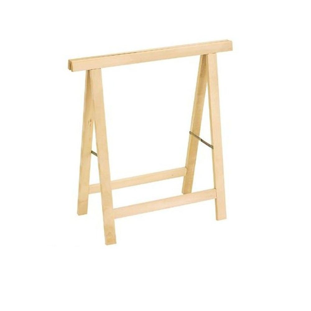 Cavalletto in legno pieghevole h75cm supporto gambe per for Tavolo di legno pieghevole