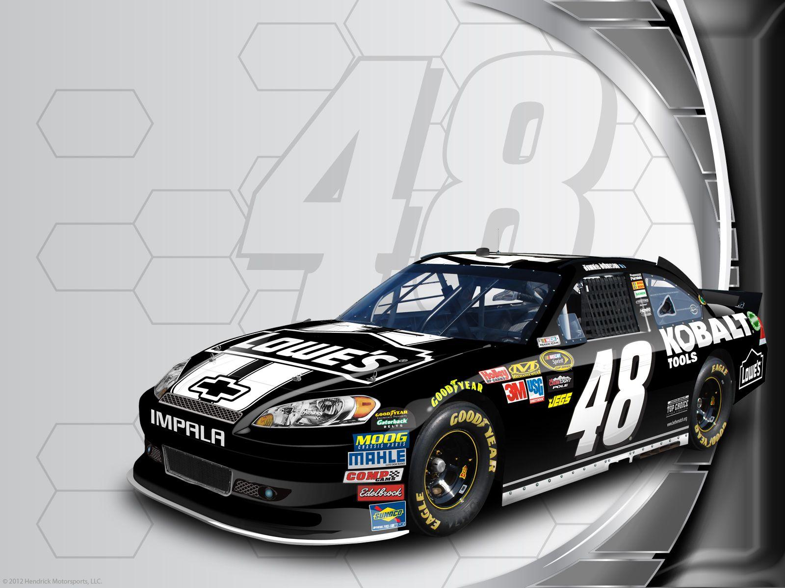 Jimmie Johnson S No 48 Kobalt Tools Lowe S Chevrolet Desktop Wallpaper Nascar Racing Nascar Race Cars Nascar