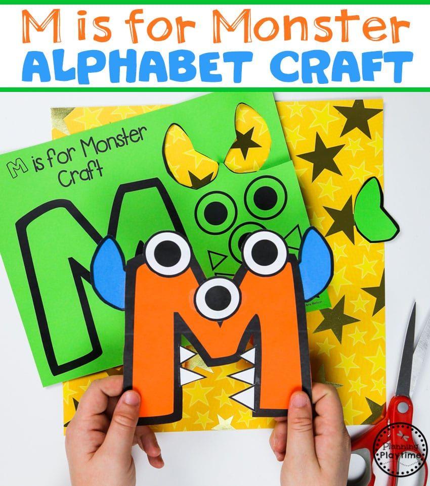Preschool Crafts, Monster Crafts, Letter A
