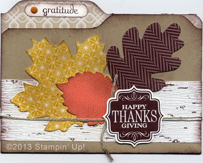 Stampin' Up! Cards - Thanksgiving, Thankful Tablescape Simply Created Kit, Tags 4 You