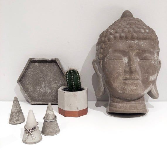 Cement concrete decorative buddha head statue #buddhadecor