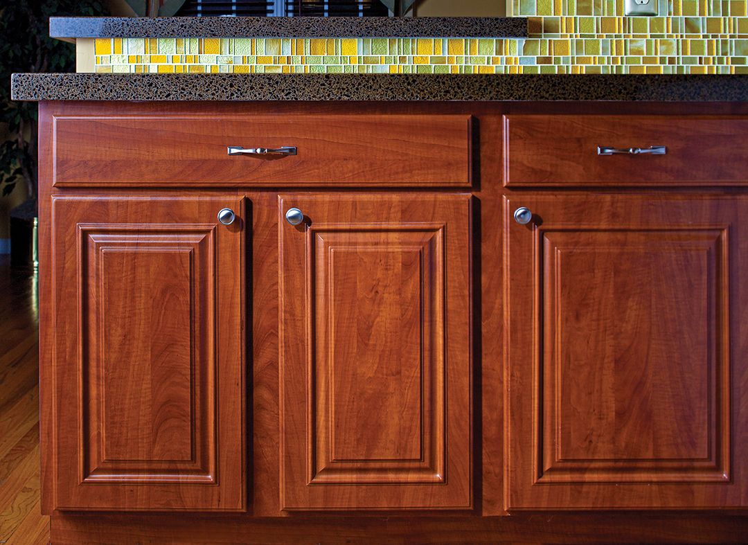 Cabinets In Summer Flame By Granite Transformations