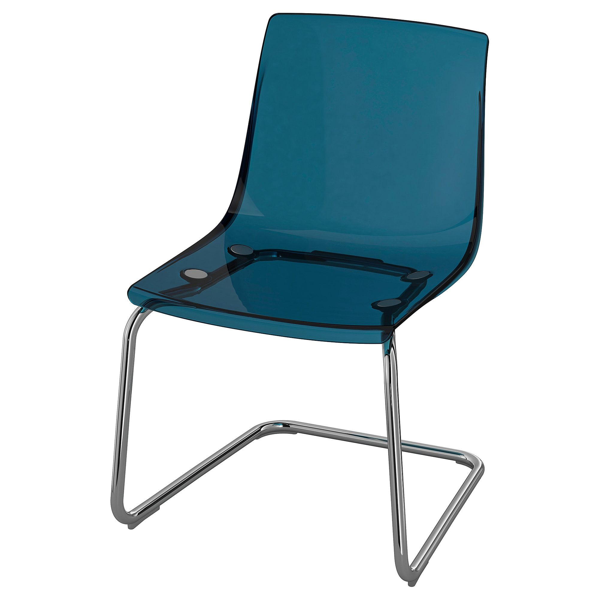 Tobias Chair Blue Chrome Plated