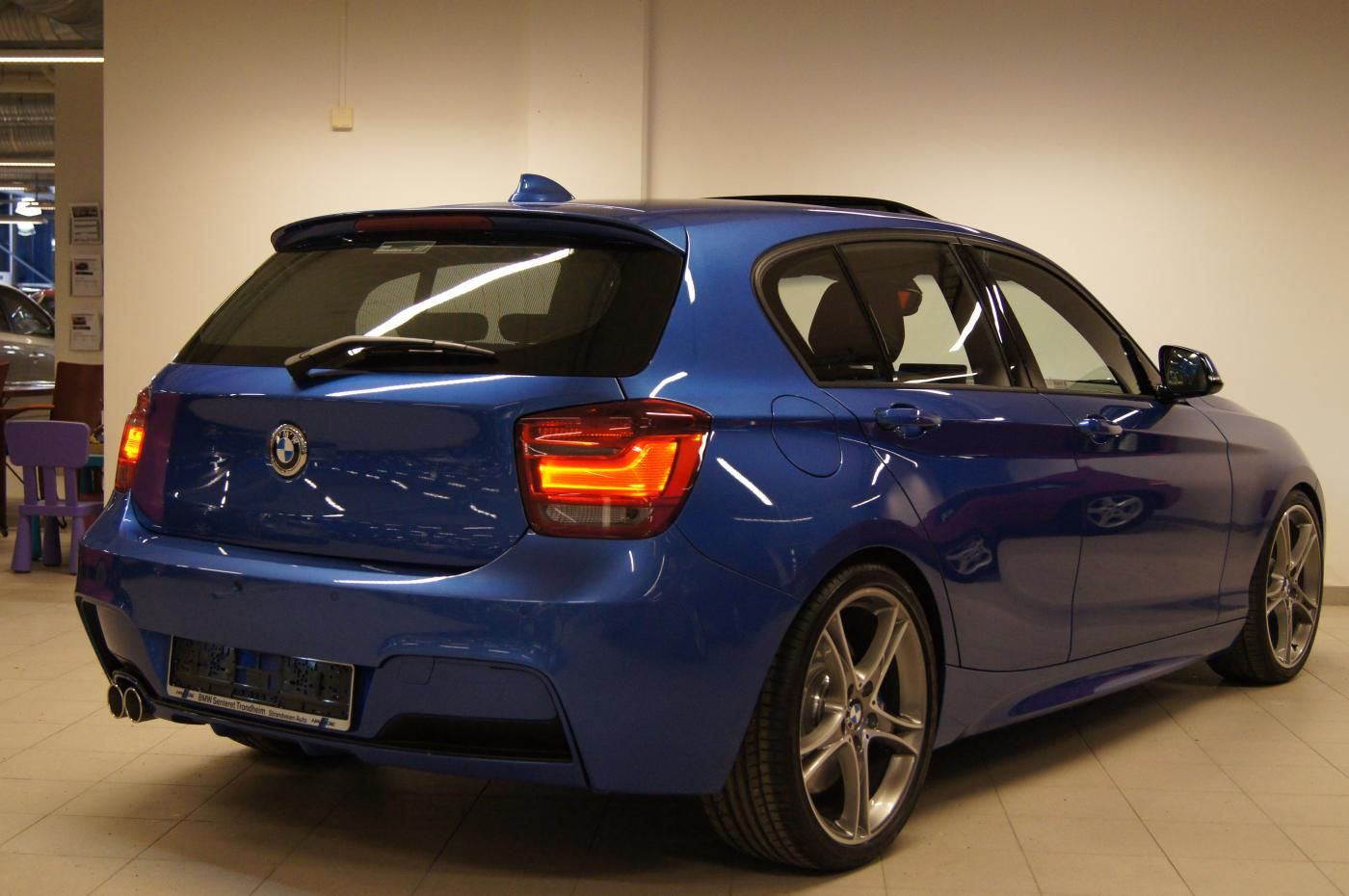 Estoril Blue F20 M Sport with M Performance Parts - BMW 1-Series
