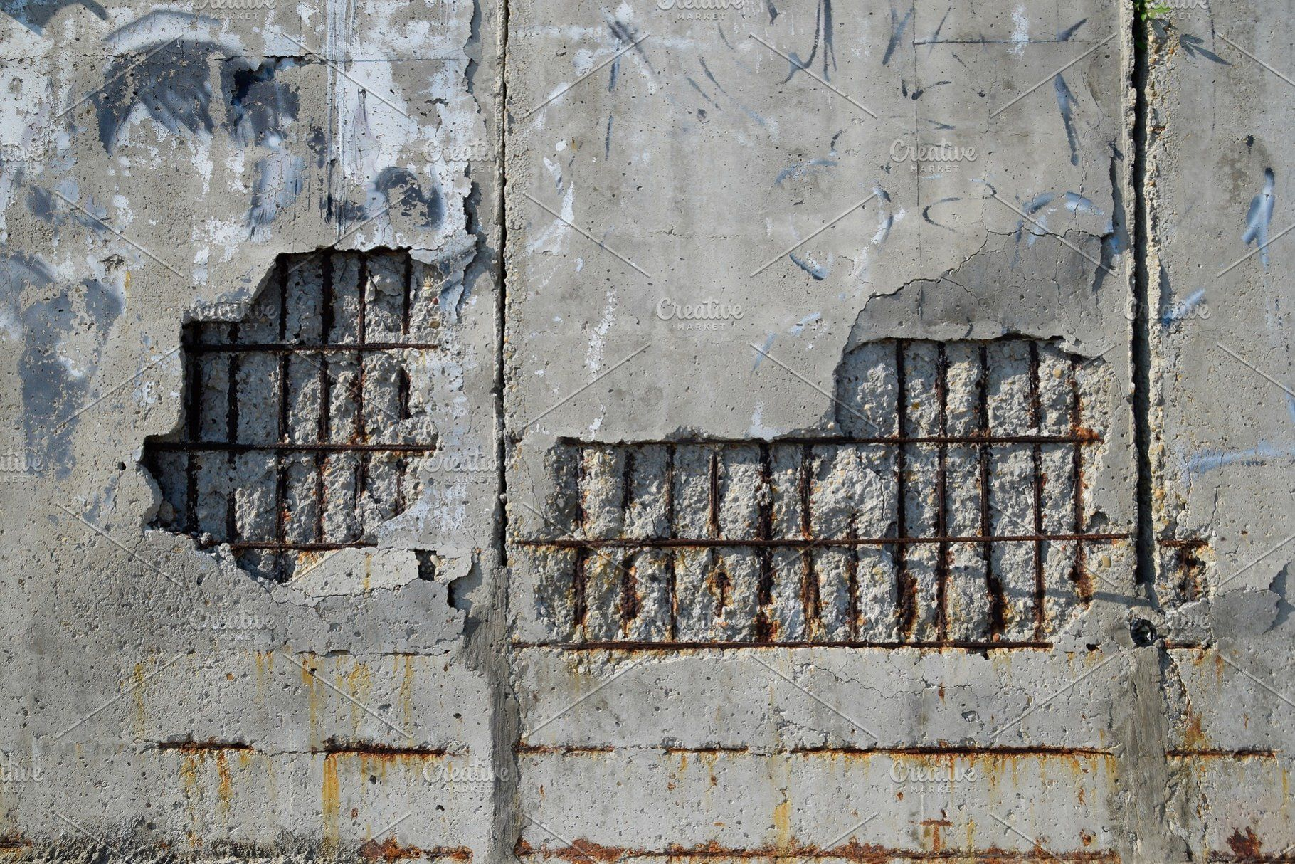 Destroying Wall Of Reinforced Reinforced Concrete Wall Creative Market