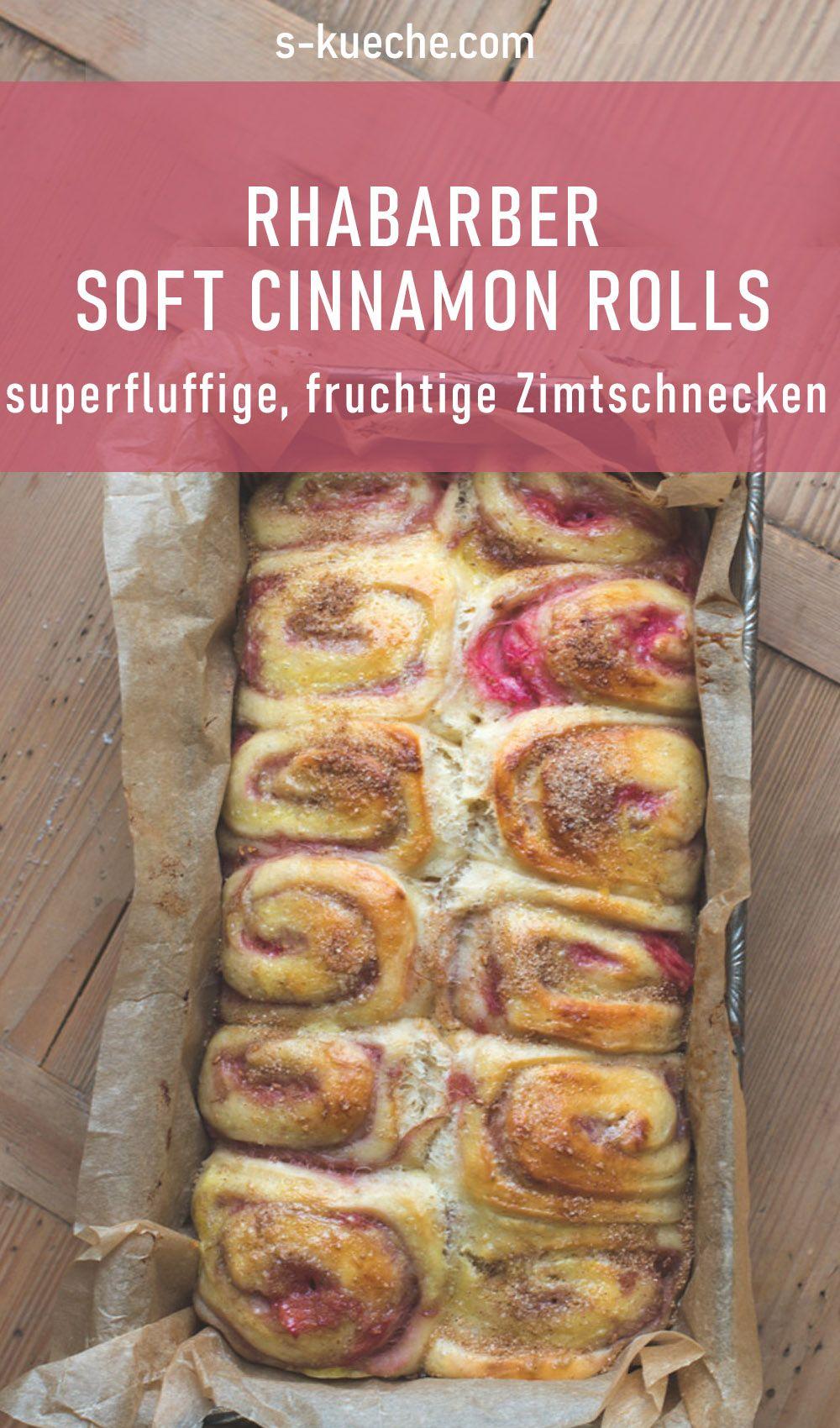 Photo of Soft cinnamon rolls with rhubarb