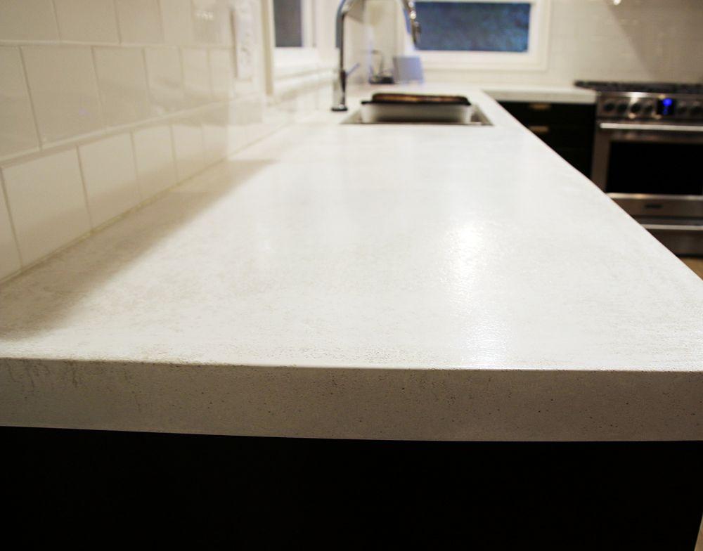 Best Sealing Our White Concrete Countertops White Concrete 400 x 300
