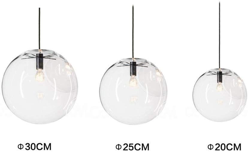 mzstech 20cm Bola f/örmiges cl/ásico cristal de h/ängendes brillante creativo einzelnes brillante Principal de l/ámpara de cristal tono