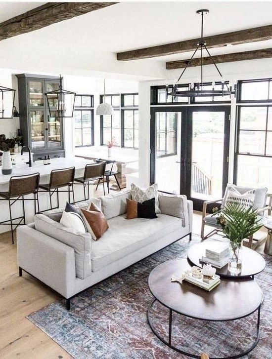 63 Relaxing Large Living Room Decorating Ideas Open Living Room Design Living Room Remodel Open Concept Living Room
