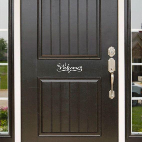 Welcome Front Door Sign Door Sticker Door Decal House Door Sign