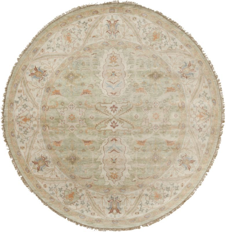 Surya ZEU7811 Zeus Hand Knotted 100% New Zealand Wool Rug Round 8 x 8 Home Decor Rugs Rugs