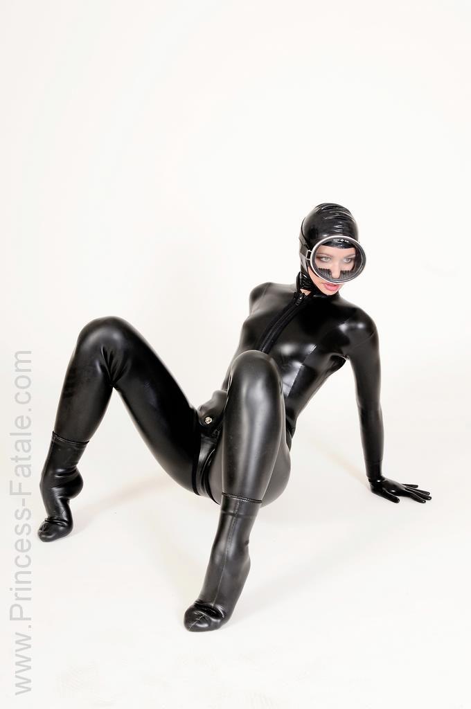 woman Latex suit