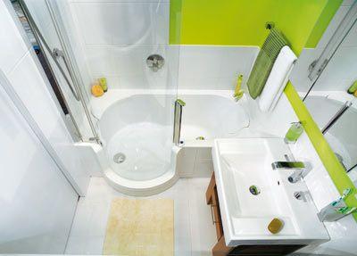 bade- und duschspaß im kleinen 2,6 m²-bad, Hause ideen